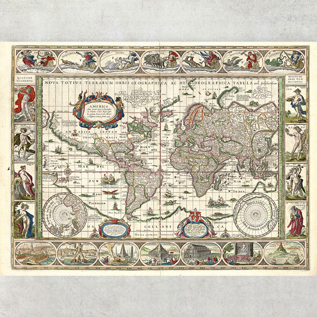 orbis Geographica ac Hydrographica Tabula 1635
